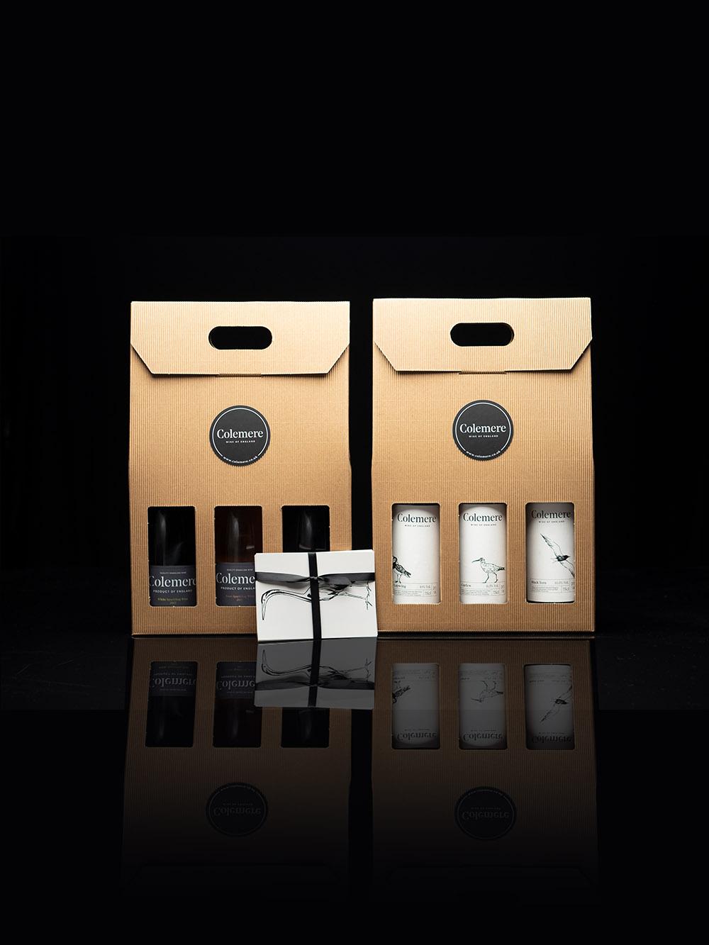 Triple Wine Bottle Gift Box english wine colemere shropshire
